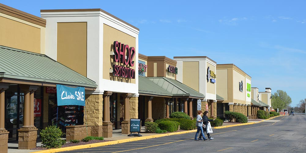 Shopping center.